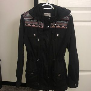 Black military jacket- EUC